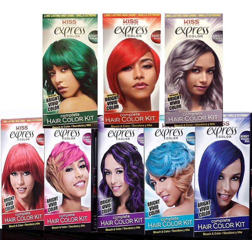 The Best Express Color Hair Coloring Kit By Kiss Express Pictures