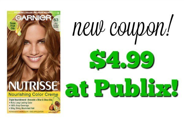 The Best Garnier Nutrisse Hair Color Coupon 4 99 At Publix Pictures