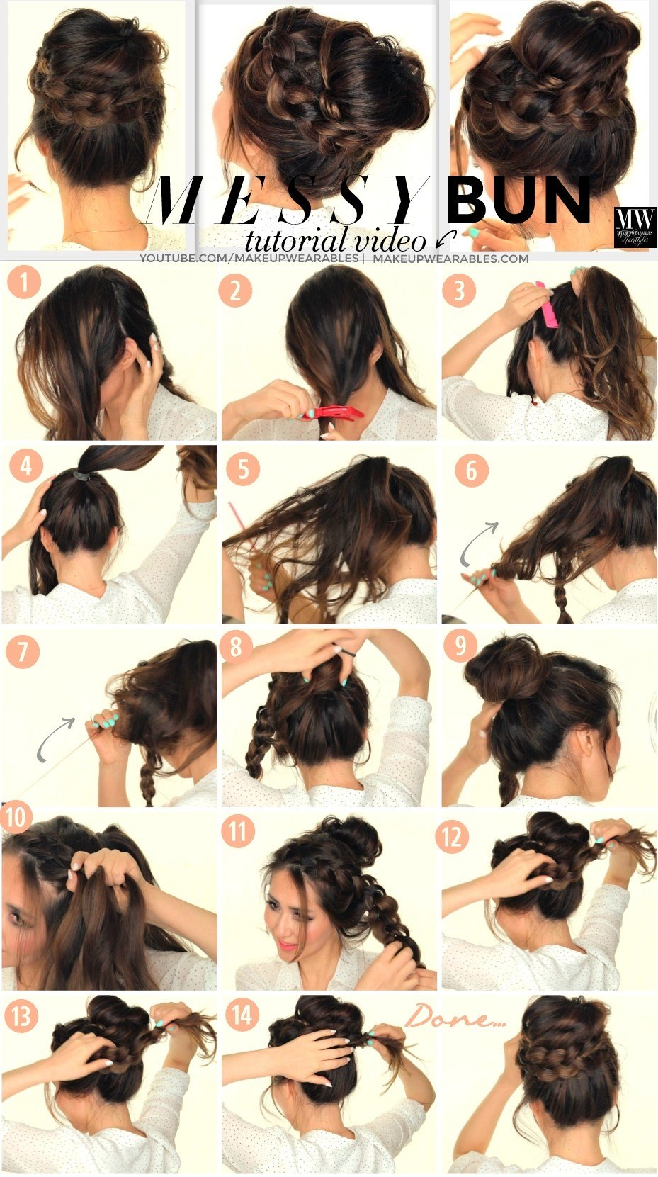 The Best Second Day Hairstyles How To Chubby Braid Wrapped Messy Pictures