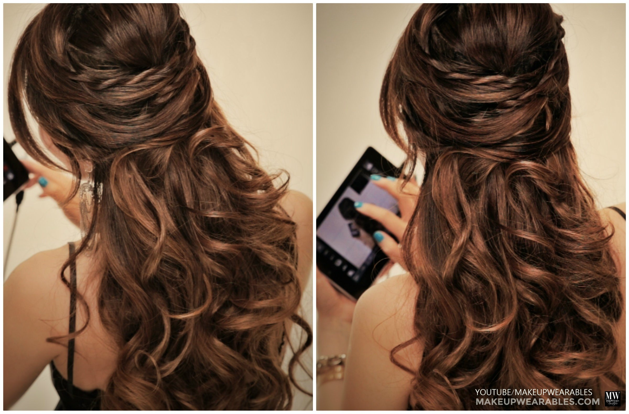 The Best Romantic Crisscross Half Up Half Down Updo With Twists Pictures