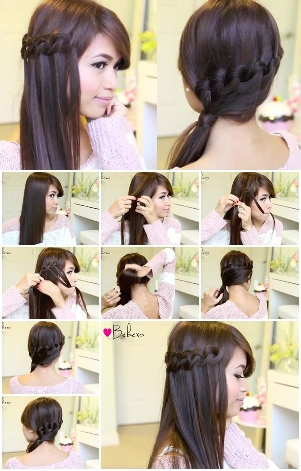 The Best How To Make A Knotted Loop Waterfall Braid Hairstyle Pictures