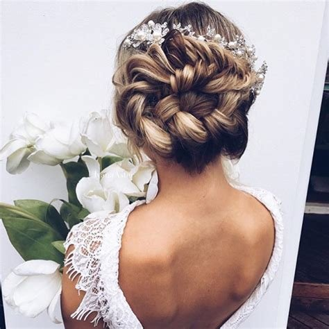 The Best Braided Bun Wedding Hairstyles Photos Brides Com Pictures