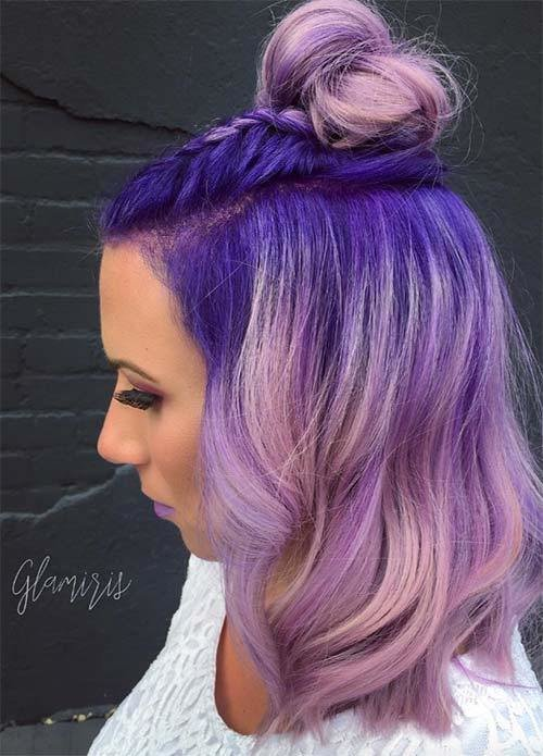 The Best 50 Lovely Purple Lavender Hair Colors Purple Hair Pictures