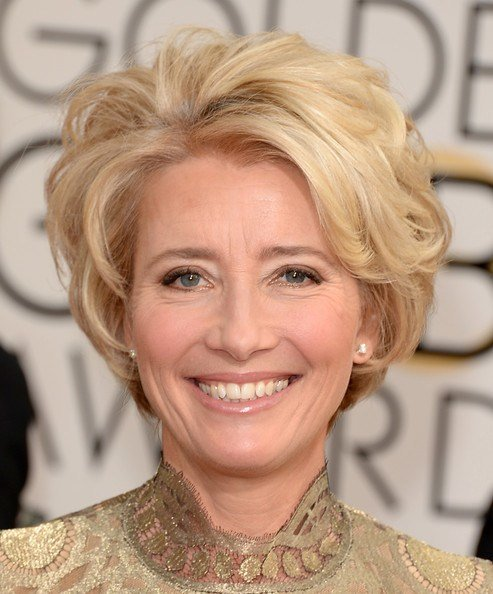 The Best Emma Thompson Short Wavy Cut Short Hairstyles Lookbook Pictures