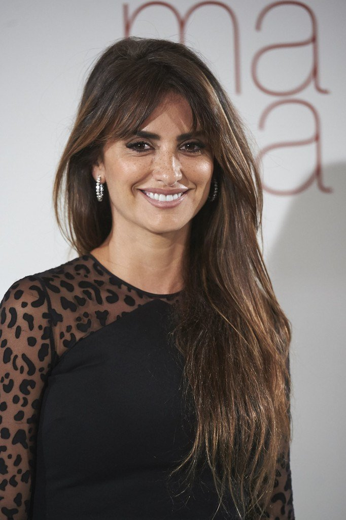 The Best Penelope Cruz Long Straight Cut With Bangs Long Straight Pictures