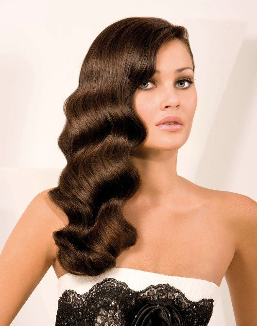 The Best Finger Waves Hairstyle For Long Hair Pictures