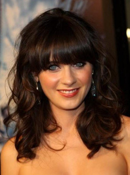 The Best Medium Wavy Hairstyle With Bangs Hairstyles Weekly Pictures