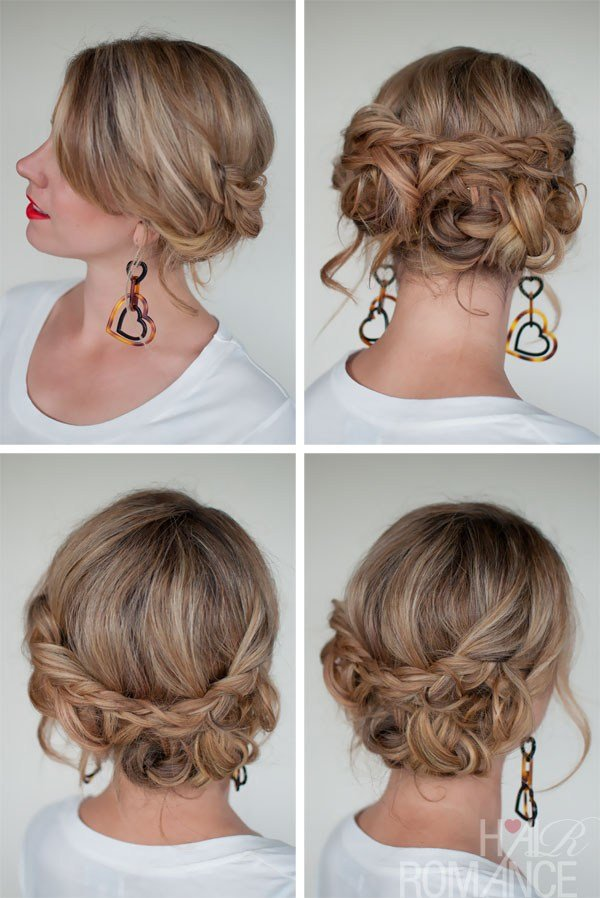 The Best Casual Messy Braided Updo The Best Braided Updos For Parties Hairstyles Weekly Pictures