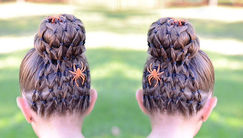 The Best Spider Web Halloween Hairstyle – Hair 4 Little Girls Pictures