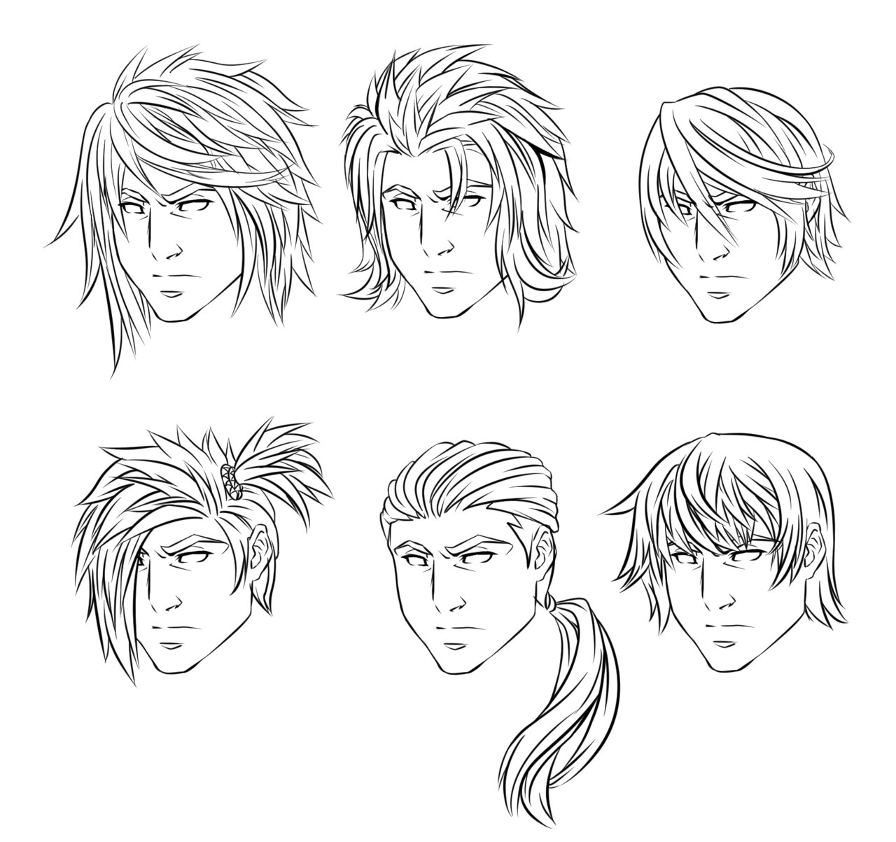 The Best Anime Male Hairstyles By Crimsoncypher On Deviantart Pictures