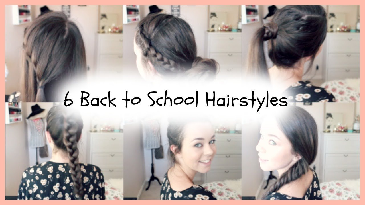 The Best 6 Back To School Quick Easy Braided Hairstyles Youtube Pictures