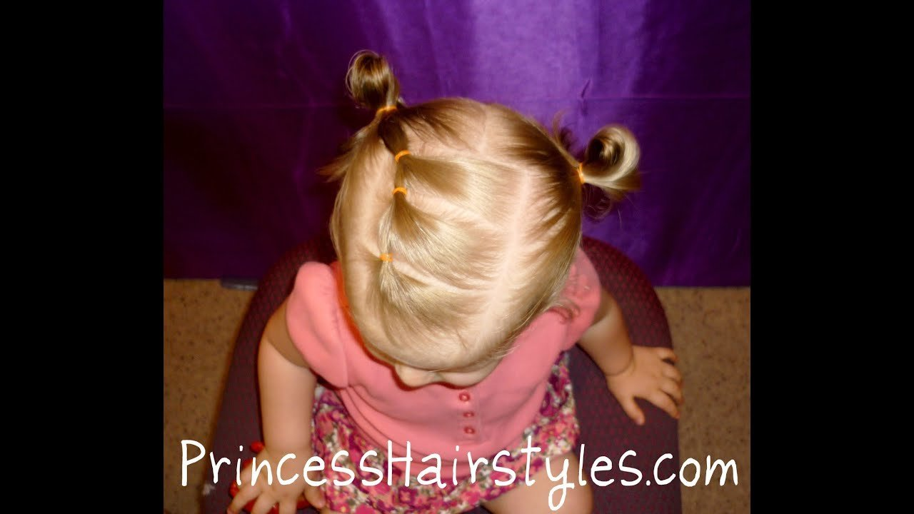 The Best Toddler Hairstyles Elastic Braid Pigtails Youtube Pictures
