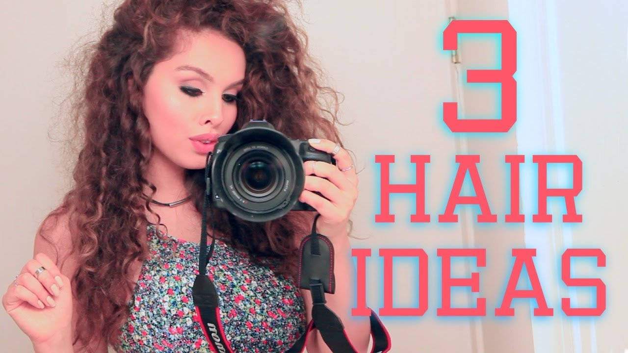 The Best 3 Easy Hairstyles For Curly Hair ♡ Youtube Pictures