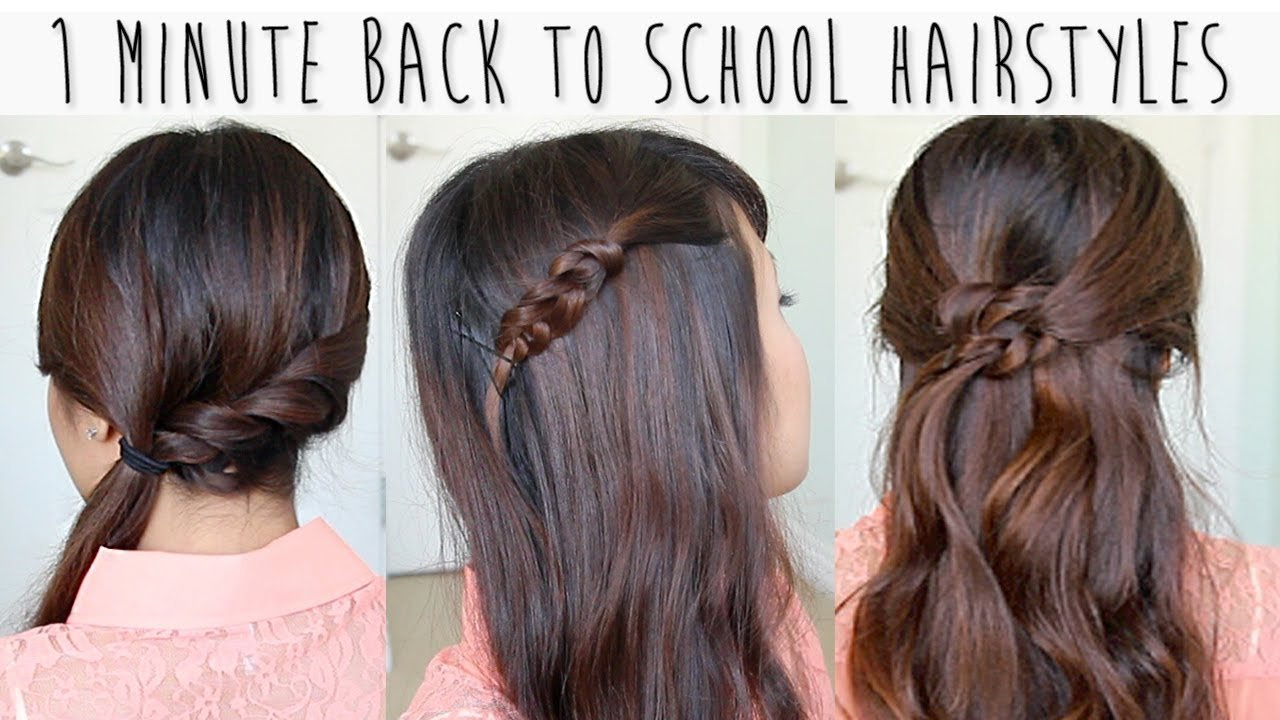 The Best 1 Minute Back To School Hairstyles For Medium Long Hair Pictures