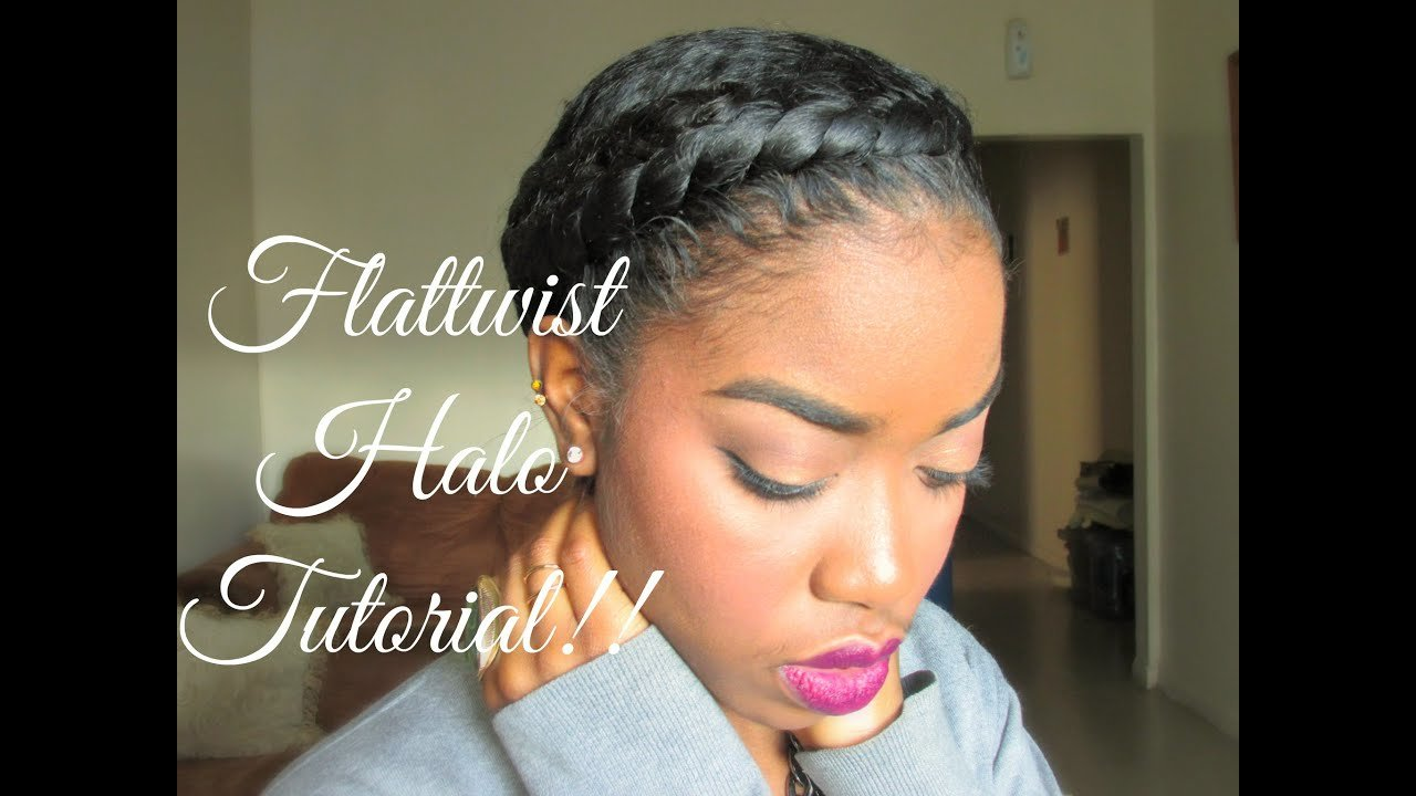 The Best Natural Hair Protective Styling Halo Tutorial Youtube Pictures
