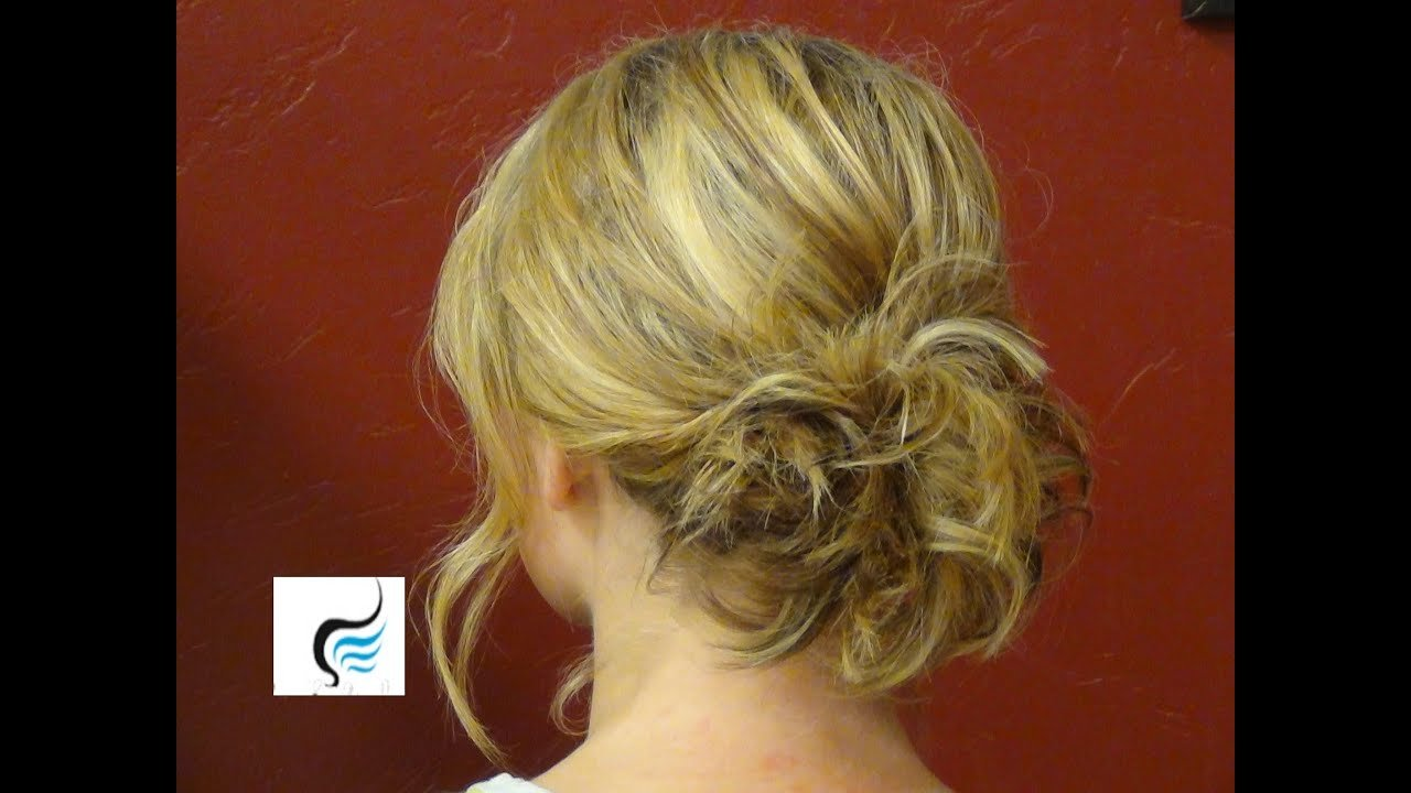 The Best Updo For Shoulder Length Hair Hairstyle Youtube Pictures