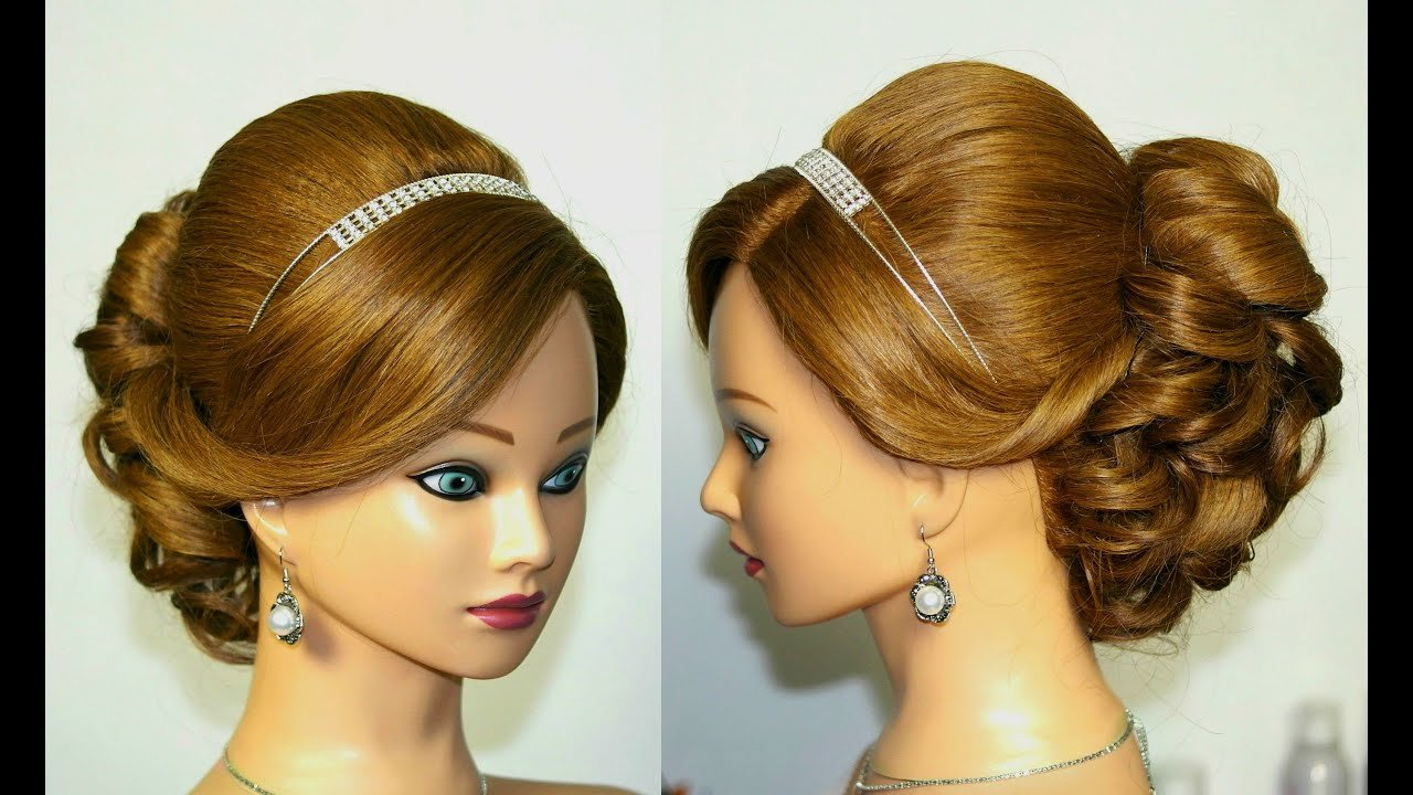The Best Wedding Prom Hairstyle For Medium Long Hair Updo Tutorial Pictures