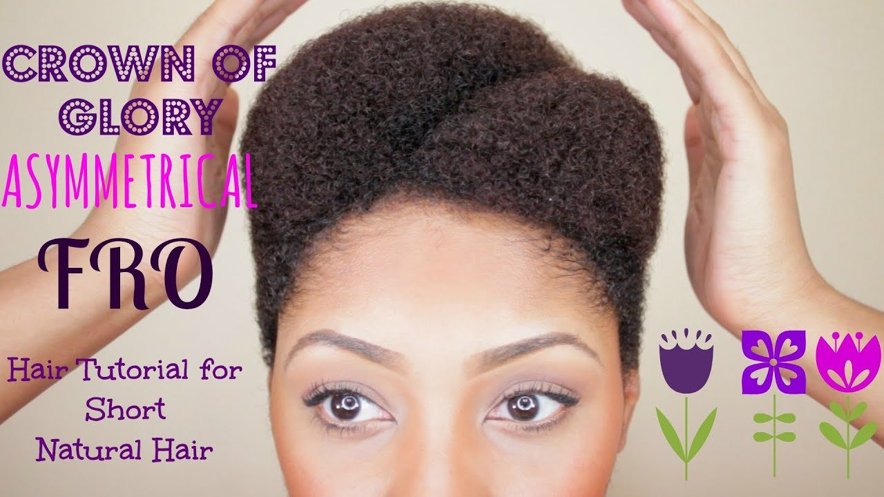 The Best Asymmetrical Afro Tutorial For Short Natural Hair Youtube Pictures
