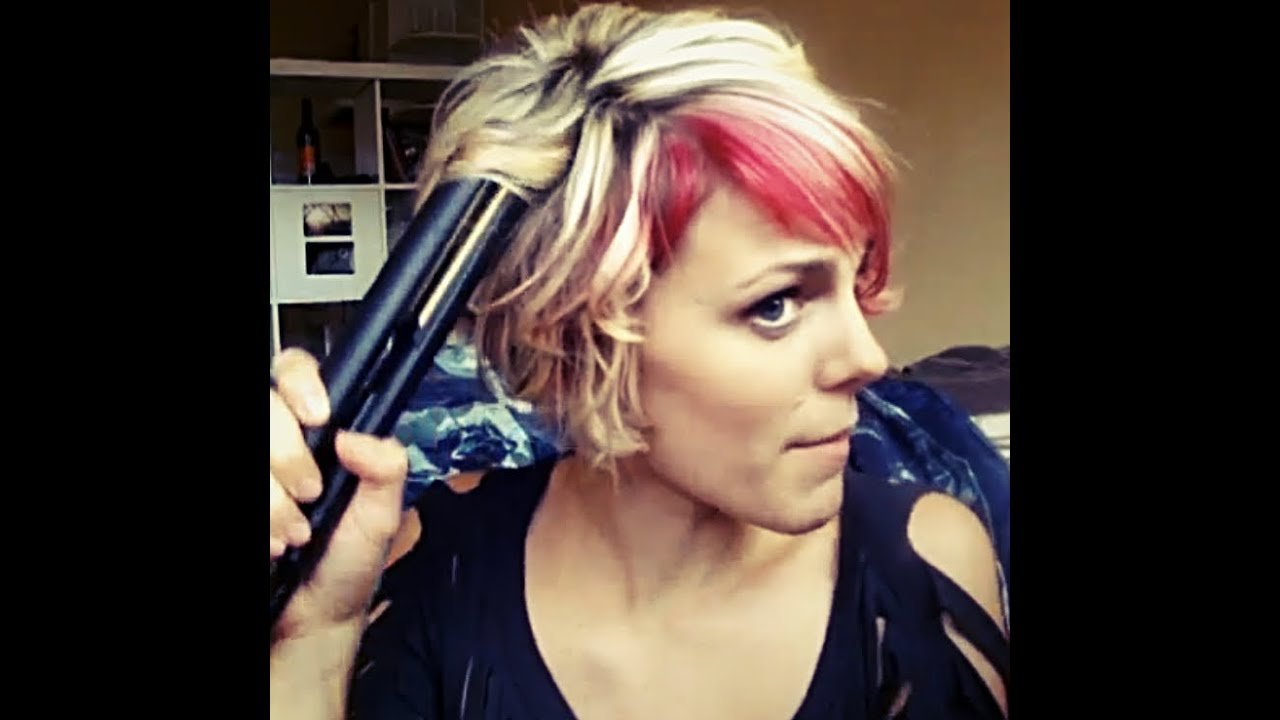 The Best How To Curl Short Hair With A Flat Iron Youtube Pictures