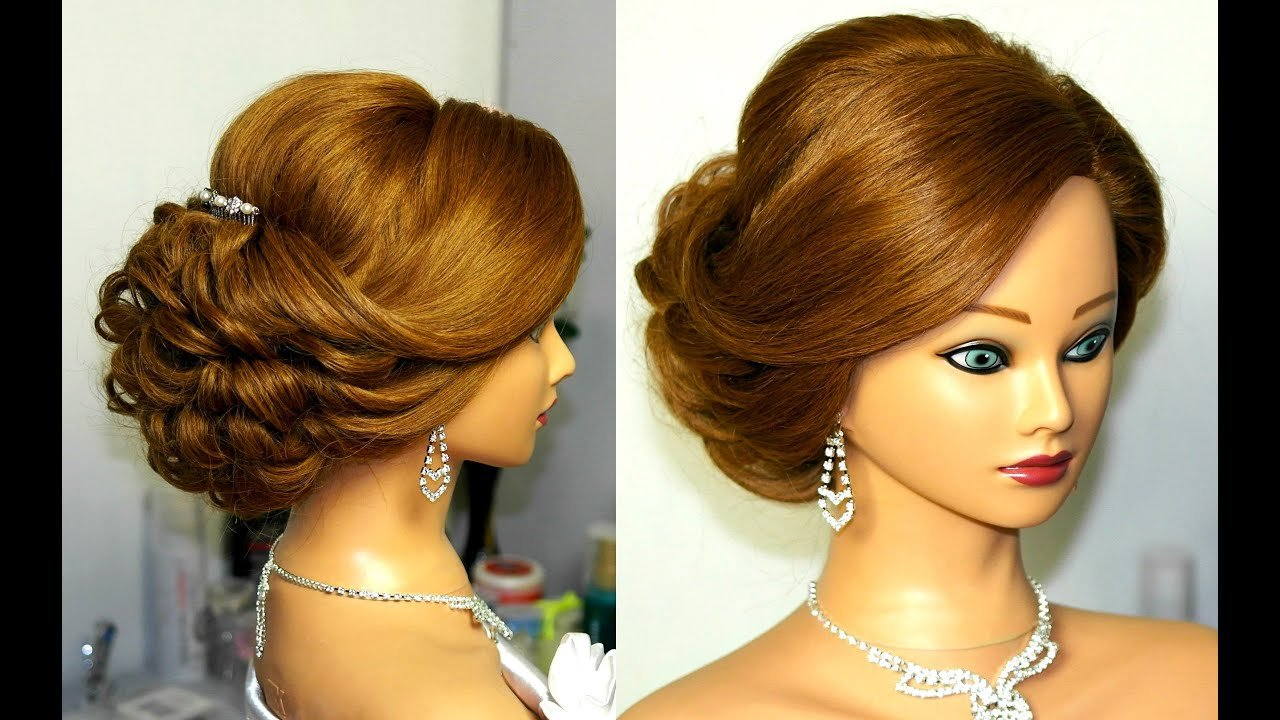 The Best Bridal Updo Romantic Hairstyle For Medium Hair Youtube Pictures