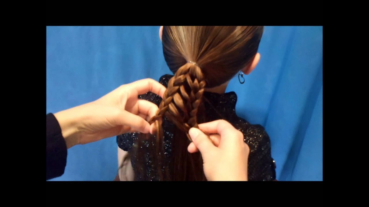 The Best Stripe Braid Ponytail Back To School Hairstyles Youtube Pictures