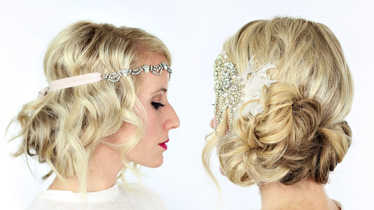 The Best 2 Gorgeous Gatsby Inspired Hairstyles Youtube Pictures