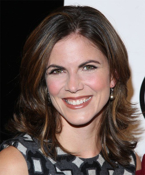 The Best Natalie Morales Medium Straight Formal Hairstyle Brunette Hair Color Pictures
