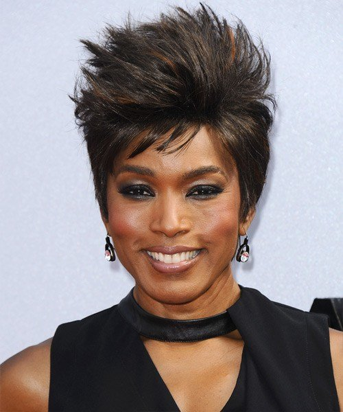 The Best Angela Bassett Short Straight Casual Hairstyle Pictures