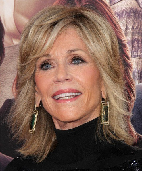 The Best Jane Fonda Medium Straight Formal Hairstyle Champagne Pictures
