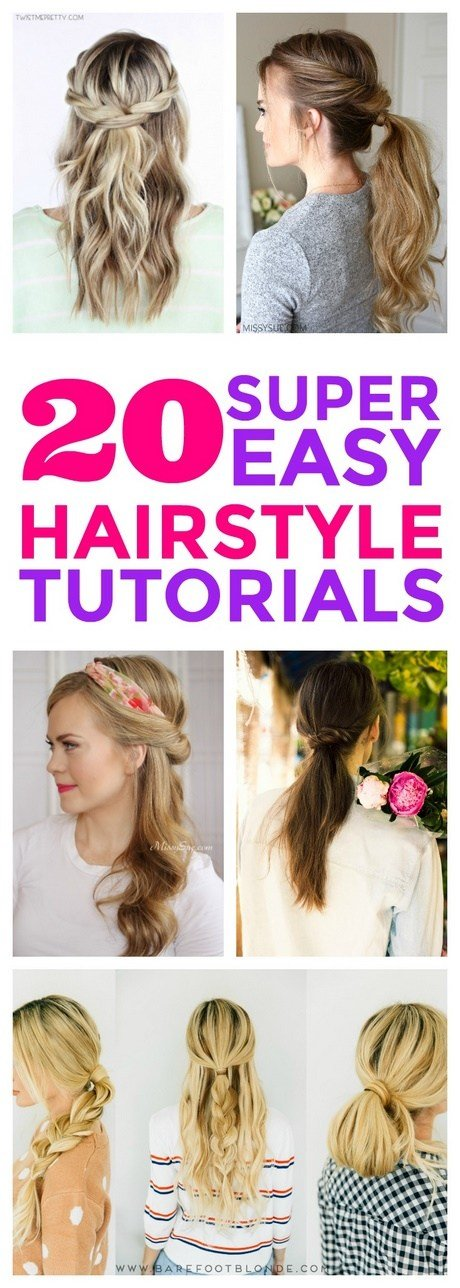 The Best Easy Hairstyles To Do In The Morning Pictures