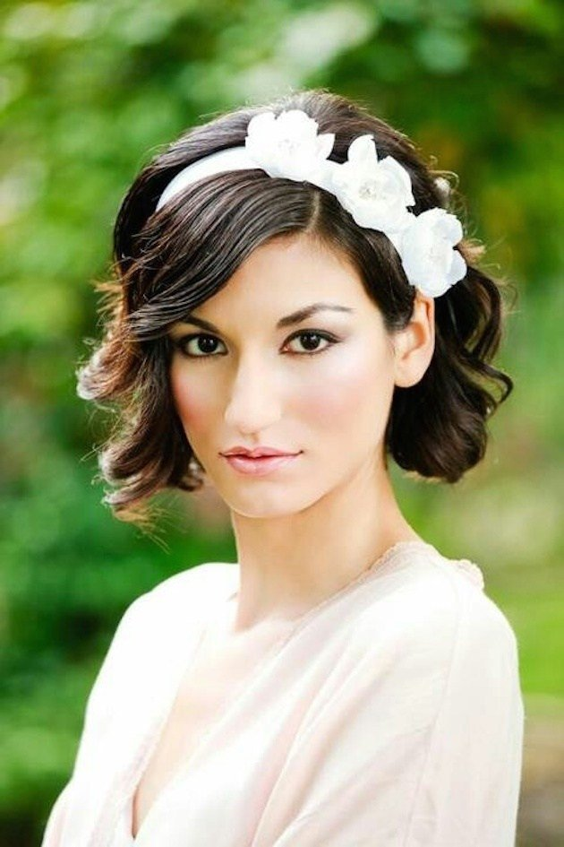 The Best 11 Awesome And Cute Wedding Hairstyles For Short Hair Pictures