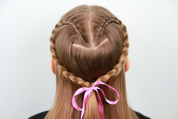 The Best Lace Braid Heart Valentine S Day Hairstyles Cute Girls Hairstyles Pictures