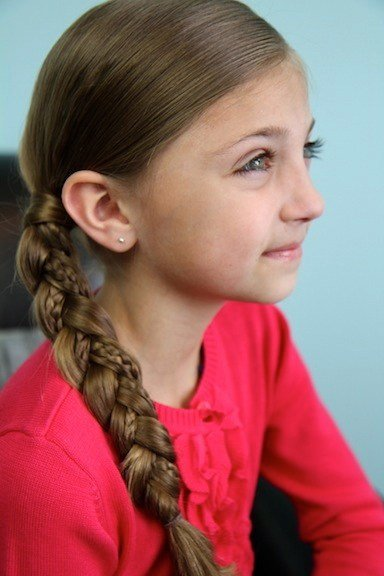 The Best Simple Braid With Micro Braid Accents Braided Hairstyles Pictures