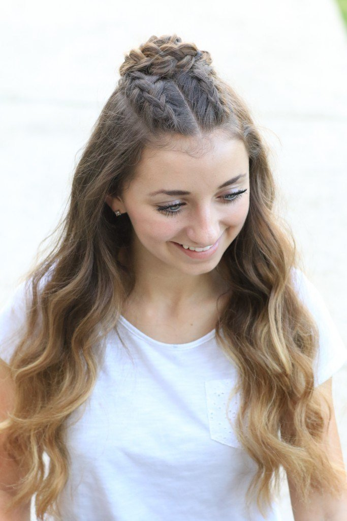 The Best Half Up Rosette Combo Homecoming Hairstyles Cute Girls Pictures