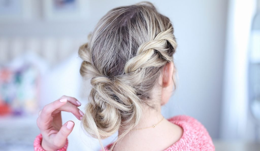 The Best Twist Back Messy Bun Cute Girls Hairstyles Pictures
