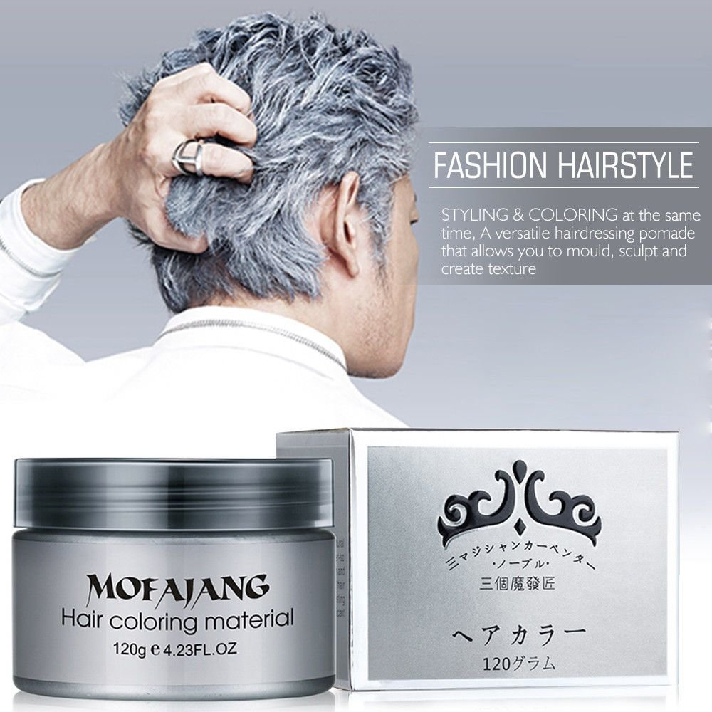 The Best Silver Ash Hair Color Wax 120Ml Temporary Gray Hair Wax Pictures
