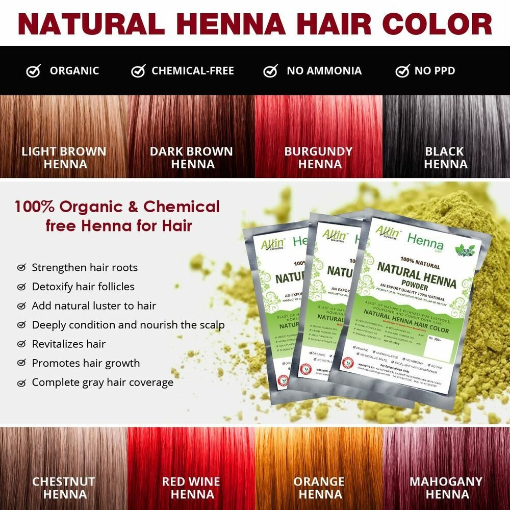 The Best Allin Exporters Natural Henna Hair Color 100 Organic Pictures