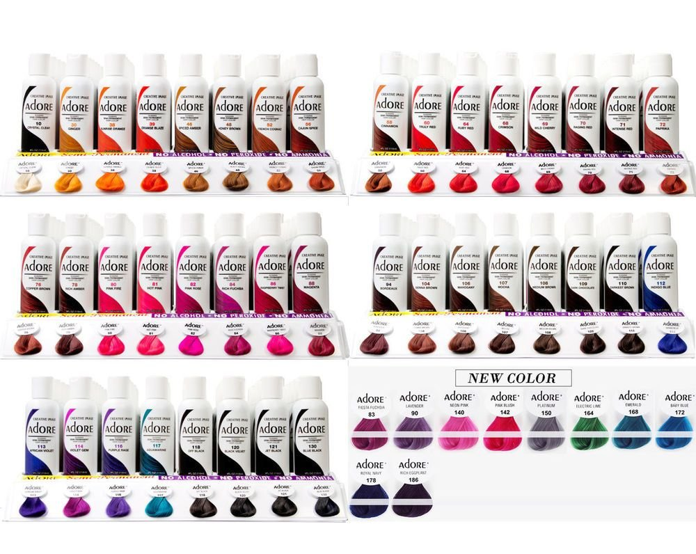 The Best Adore Shining Semi Permanent Hair Color Alcohol Free 4 Oz Pictures