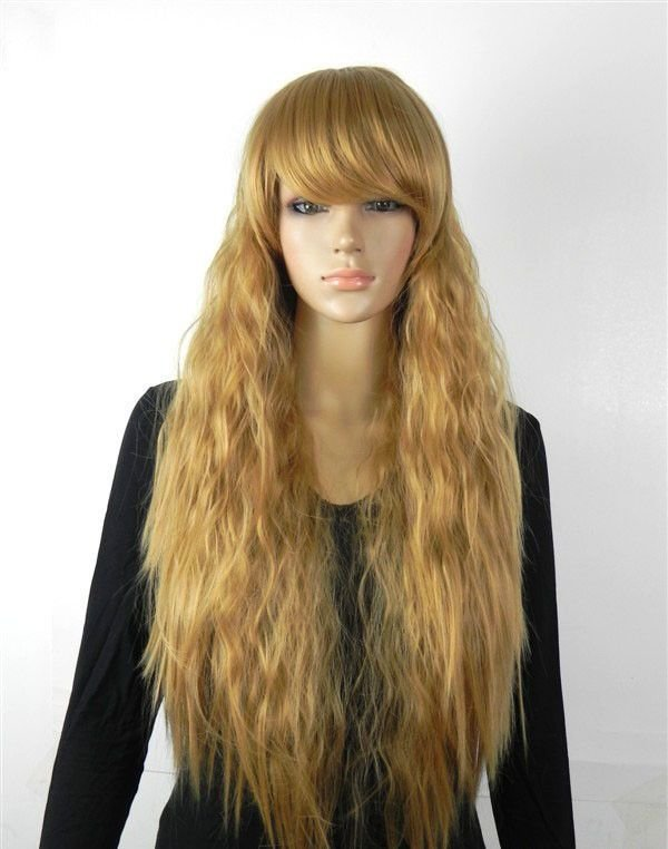 The Best Hot Sell Fashion Light Brown Fluffy Small Wavy Women S Lady S Hair Wig Wigs Cap Ebay Pictures