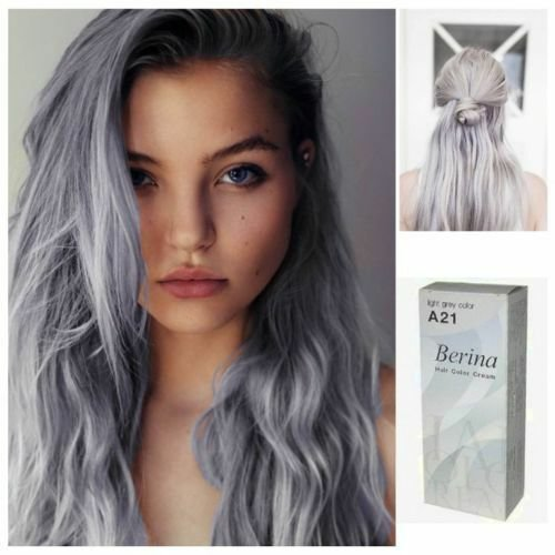 The Best Gray Punk A21 Berina Hair Cream Semi Permanent Hair Dye Pictures