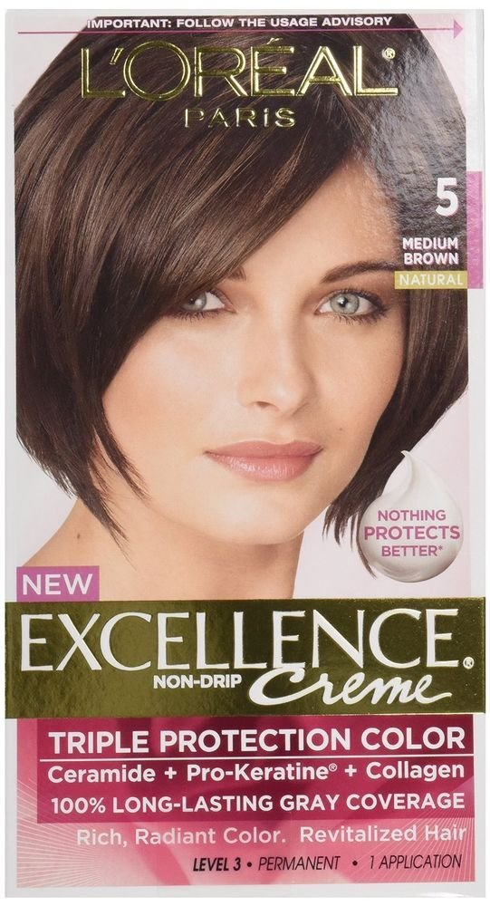 The Best L Oreal Excellence 5 Medium Brown Hair Color Pack Of 12 Pictures