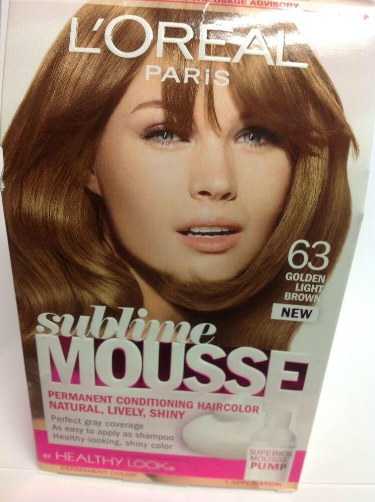The Best L Oreal Sublime Mousse By Healthy Look Hair Color Golden Light Brown 63 New Ebay Pictures