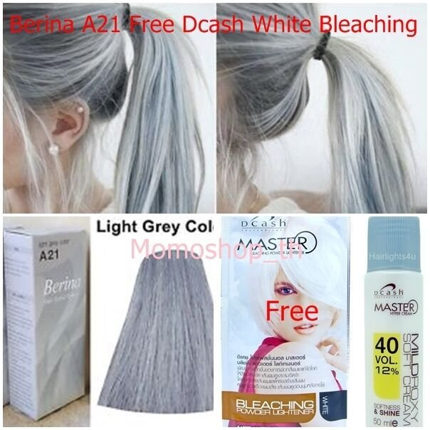 The Best Berina A21 Color Hair Cream Light Gray Permanent Super Pictures