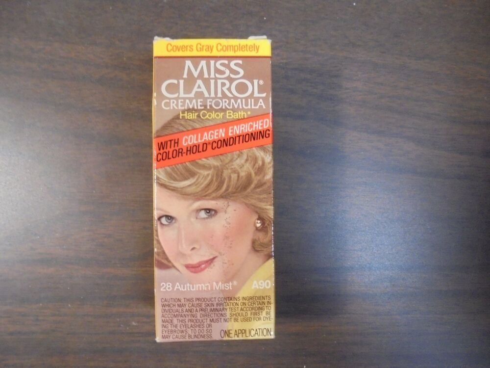 The Best Vintage Miss Clairol Hair Color Bath With Collagen Pictures