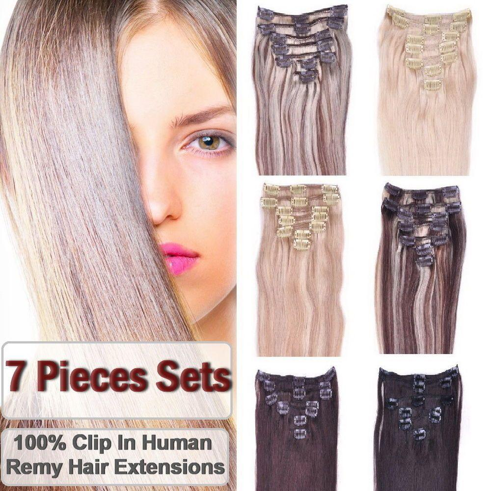 The Best 7 Pieces Premium Clip In 100 Remy Human Hair Extensions Pictures