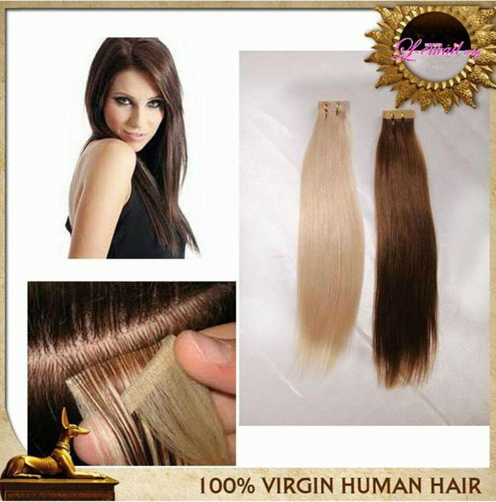 The Best 40Pcs 100G 100 Tape In Human Hair Extensions Fashion Remy Pictures