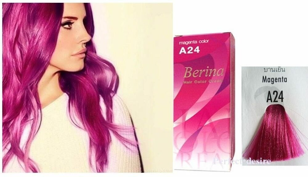 The Best Berina No A24 Pink Magenta Permanent Hair Color Cream Hair Pictures