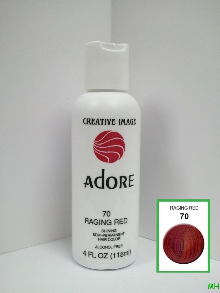 The Best Creative Image Adore Semi Permanent Hair Color 70 Raging Red 4Oz Ebay Pictures