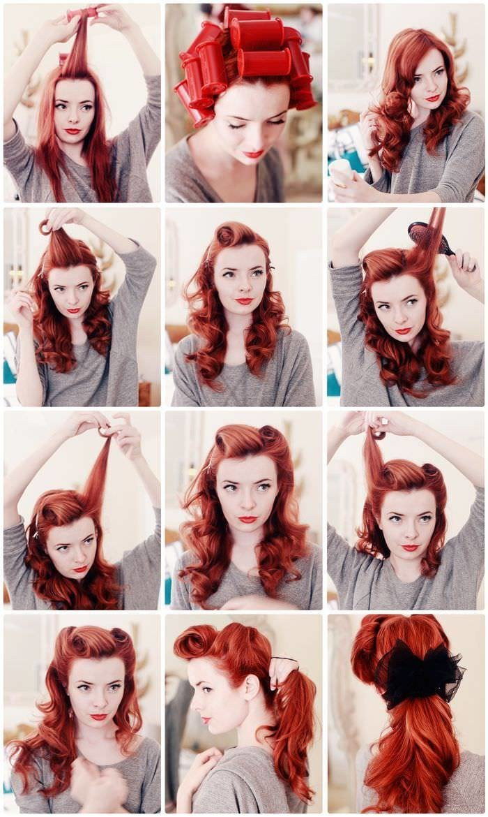 The Best Retro Hairstyles Step By Step Instructions Photo Pictures