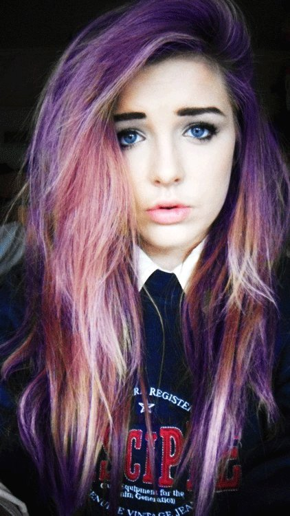 The Best Multi Color Hair On Tumblr Pictures